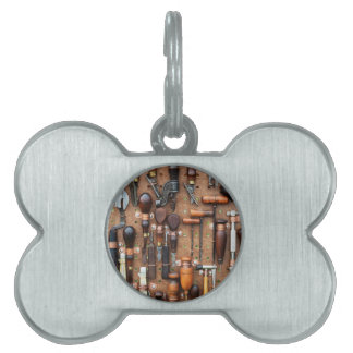 Wall of Work Tools - Industrial Print Pet Name Tag