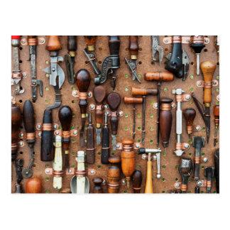 Wall of Work Tools - Industrial Print Postcard