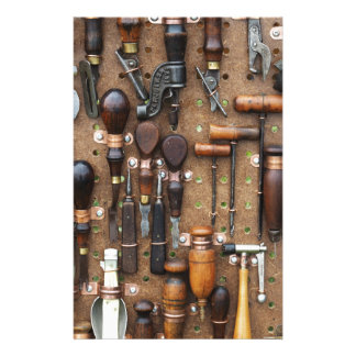Wall of Work Tools - Industrial Print Stationery