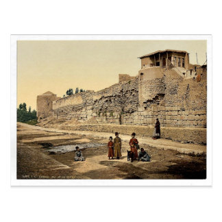 Wall over which St. Paul escaped, Damascus, Holy L Postcard