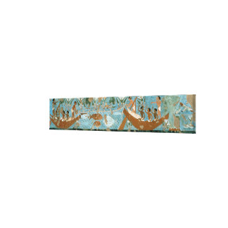 Wall painting from the tomb of Ipuy, Thebes, depic Canvas Print
