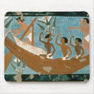 Wall painting from the tomb of Ipuy, Thebes, depic Mouse Pad