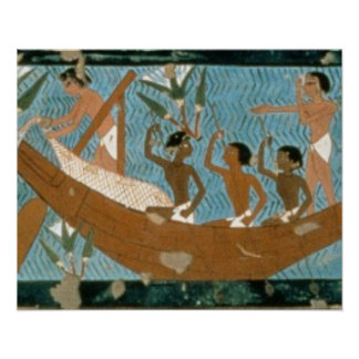 Wall painting from the tomb of Ipuy, Thebes, depic Poster