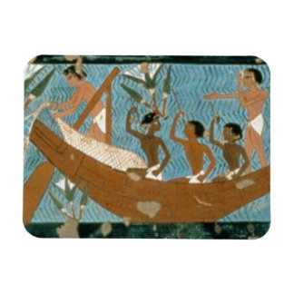 Wall painting from the tomb of Ipuy, Thebes, depic Rectangular Photo Magnet