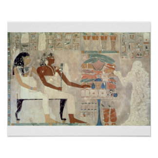 Wall painting from the tomb of Rekhmire, Thebes, d Poster