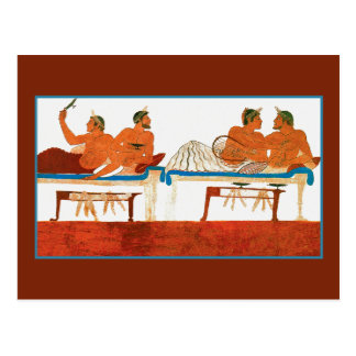 Wall Painting Paestum, Italy Post Card