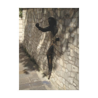 Wall Sculpture in Montmartre, France Canvas Print