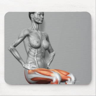 Wall Sit Mouse Pad