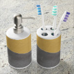 Wall Soap Dispenser And Toothbrush Holder
