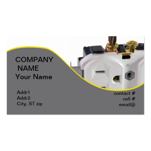 wall socket business card template