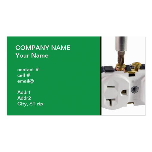 wall socket Double-Sided standard business cards (Pack of 100)