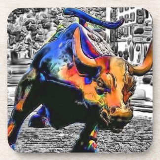 Wall St. Bull Drink Coaster