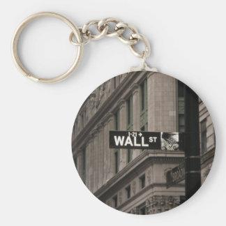 Wall St New York Keychain