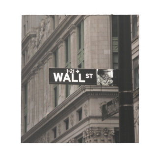 Wall St New York Notepad