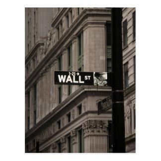 Wall St New York Postcard