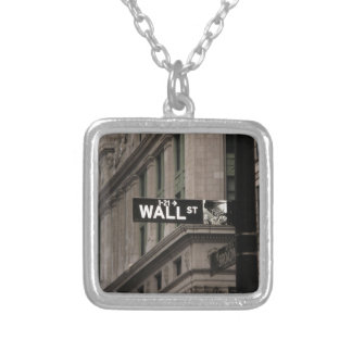 Wall St New York Silver Plated Necklace