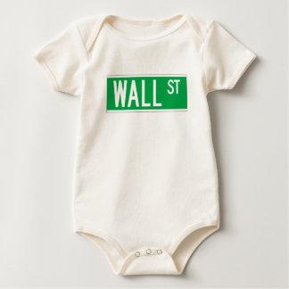 Wall St., New York Street Sign Baby Bodysuit