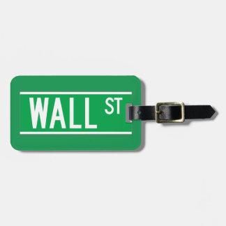 Wall St., New York Street Sign Bag Tag