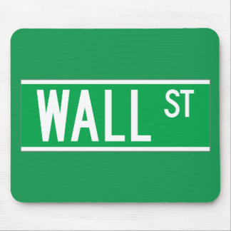 Wall St., New York Street Sign Mouse Pad