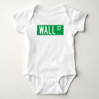 Wall St., New York Street Sign Tee Shirt