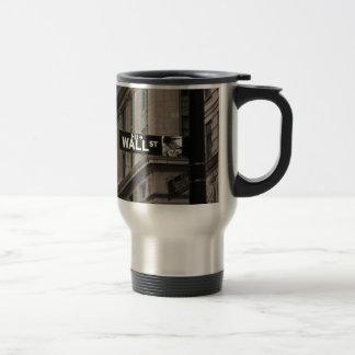 Wall St New York Travel Mug