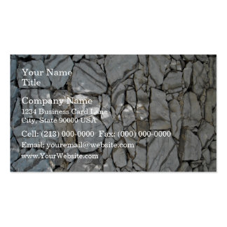Wall Stacked With Gray Stones Business Card