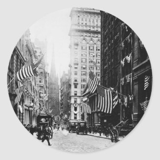 Wall Street 1900 Classic Round Sticker