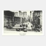 Wall Street 1900 Pegatina Rectangular