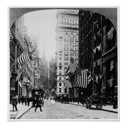 Wall Street 1900 Poster