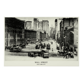 Wall Street 1900 Posters