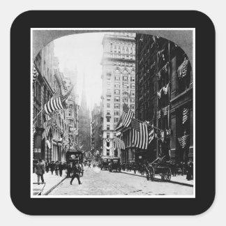 Wall Street 1900 Square Sticker