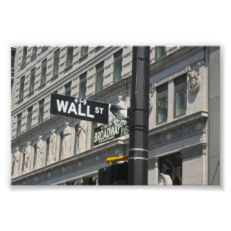Wall Street and Broadway, New York City Print