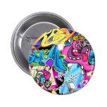 Wall Street Art Pinback Buttons