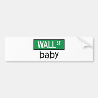 WALL STREET baby - Bumper Sticker Car Bumper Sticker