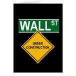 Wall Street bajo construcción Felicitacion