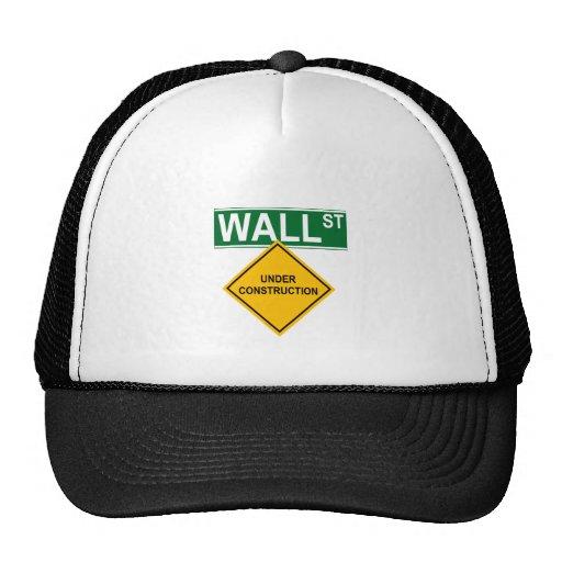 Wall Street: Bajo construcción Gorros Bordados