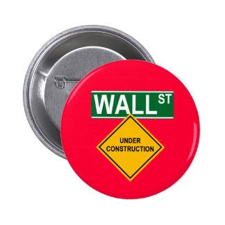 Wall Street bajo construcción Pin