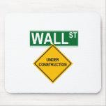 Wall Street: Bajo construcción Alfombrilla De Raton