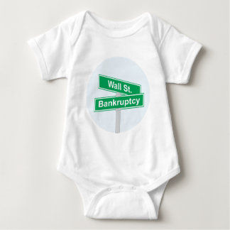 Wall Street Bankruptcy - Occupy Wall Street Sign Baby Bodysuit