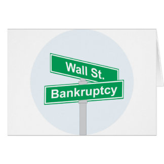 Wall Street Bankruptcy - Occupy Wall Street Sign Card