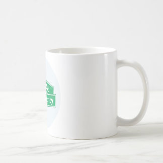 Wall Street Bankruptcy - Occupy Wall Street Sign Classic White Coffee Mug