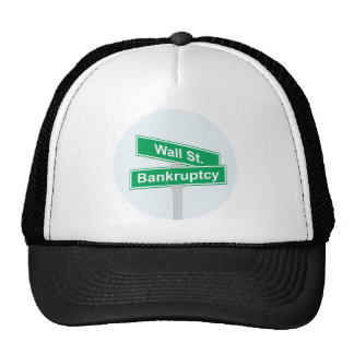 Wall Street Bankruptcy - Occupy Wall Street Sign Trucker Hat