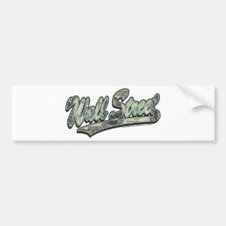 Wall Street Baseball Script, High Finance Bumper Sticker