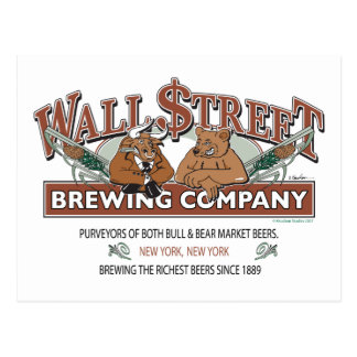WALL-STREET-BREWING-Company Postcard