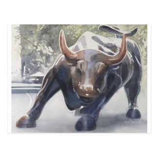 Wall Street Bull by Paul Jackson Postcard