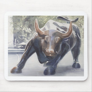 Wall Street Bull de Paul Jackson Mouse Pads