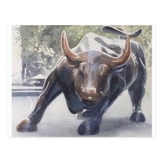 Wall Street Bull de Paul Jackson Postales