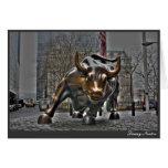Wall Street Bull Felicitación