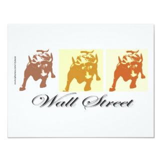 Wall Street Bull Market 4.25x5.5 Paper Invitation Card