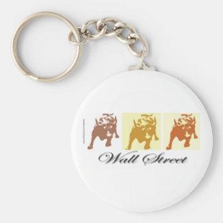 Wall Street Bull Market Keychain